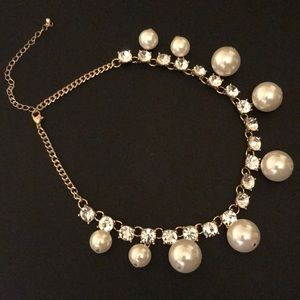 Stunning Diamond 💎 And Pearl Necklace Brand New!